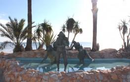 Estatua a Los pescadores en Los Alcázares